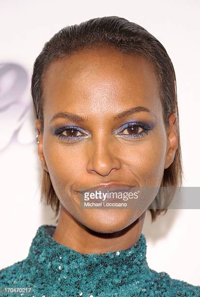 Model Yasmin Warsame attends the 4th Annual amfAR Inspiration Gala New York at The Plaza Hotel on June 13 2013 in New York City