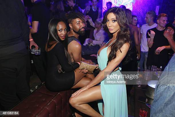 Model Yasmine Petty attends the Wilhelmina Models Men's NYFW party in celebration of the 'Wolf Pack' at Marquee on July 16 2015 in New York City