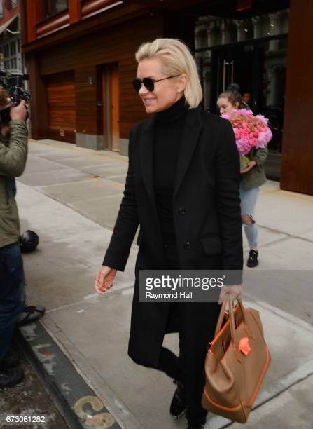 Model Yolanda Hadid is seen walking in Soho on April 25 2017 in New York City