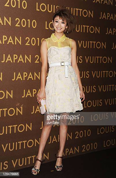 Model Yu Yamada attends the Louis Vuitton Leather and Craftsmanship event at Tabloid on October 14 2010 in Tokyo Japan