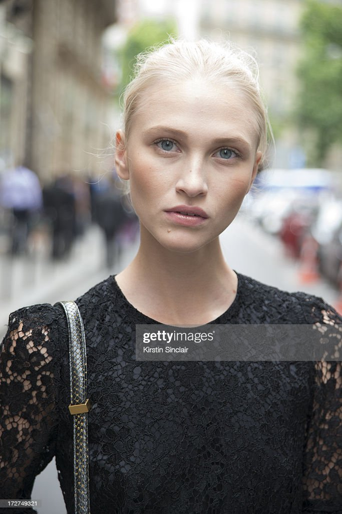 Model Yulia Lobova wears a Dolce and Gabbana dress on day 4 of Paris Collections: Womens Haute Couture on July 04, 2013 in Paris, France.