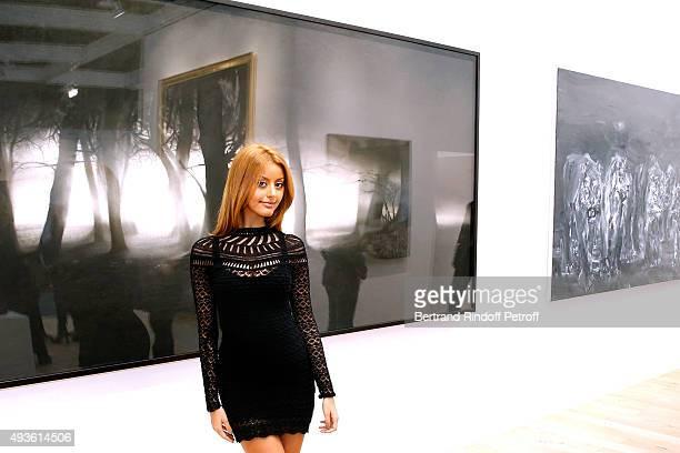 Model Zahia Dehar attends the 'FIAC 2015 International Contemporary Art Fair' at Le Grand Palais on October 21 2015 in Paris France