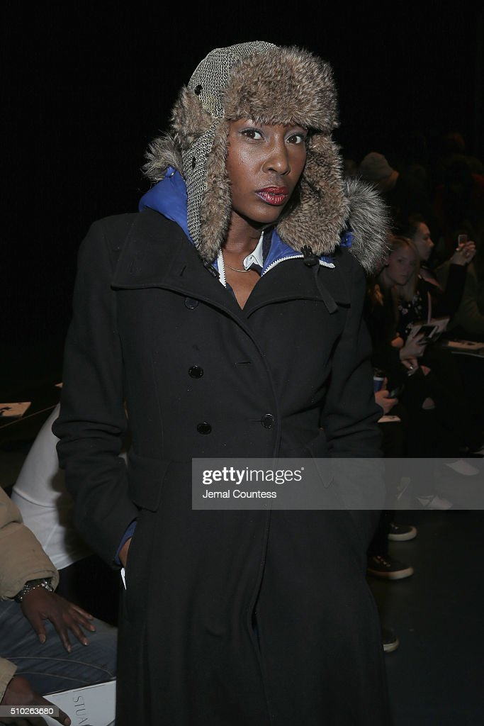 Model Ze-enna Jenkins attends Asia Fashion Collection Fall / Winter 2016 - Front Row at Pier 59 Studios on February 14, 2016 in New York City.