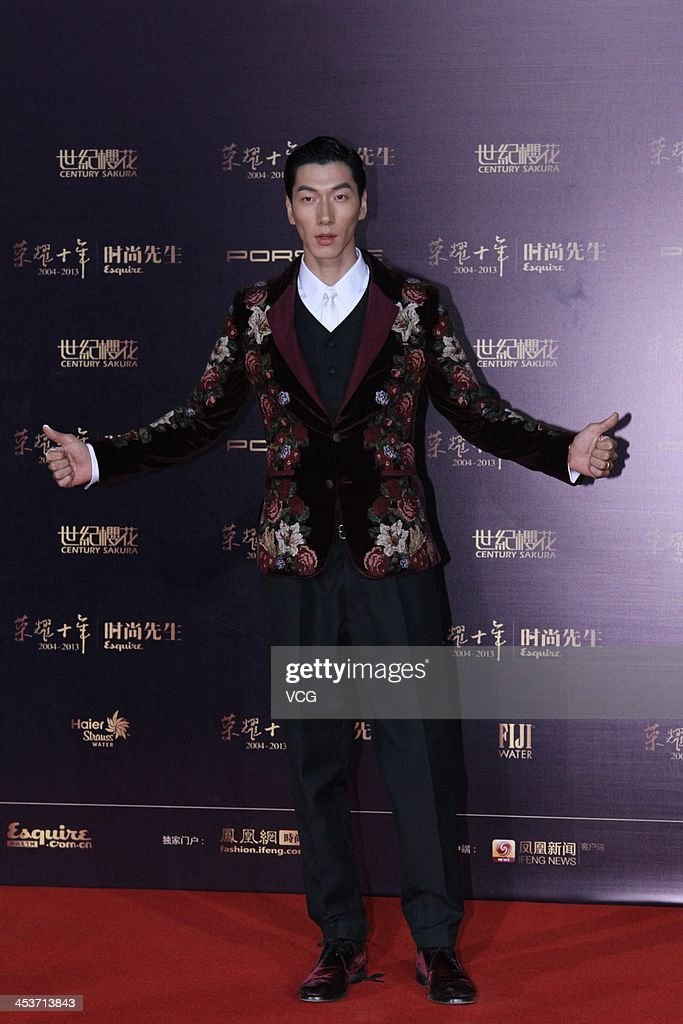 Model Zhang Liang attends Esquire Men Of The Year Awards 2013 at Oriental Theatre on December 4, 2013 in Beijing, China.