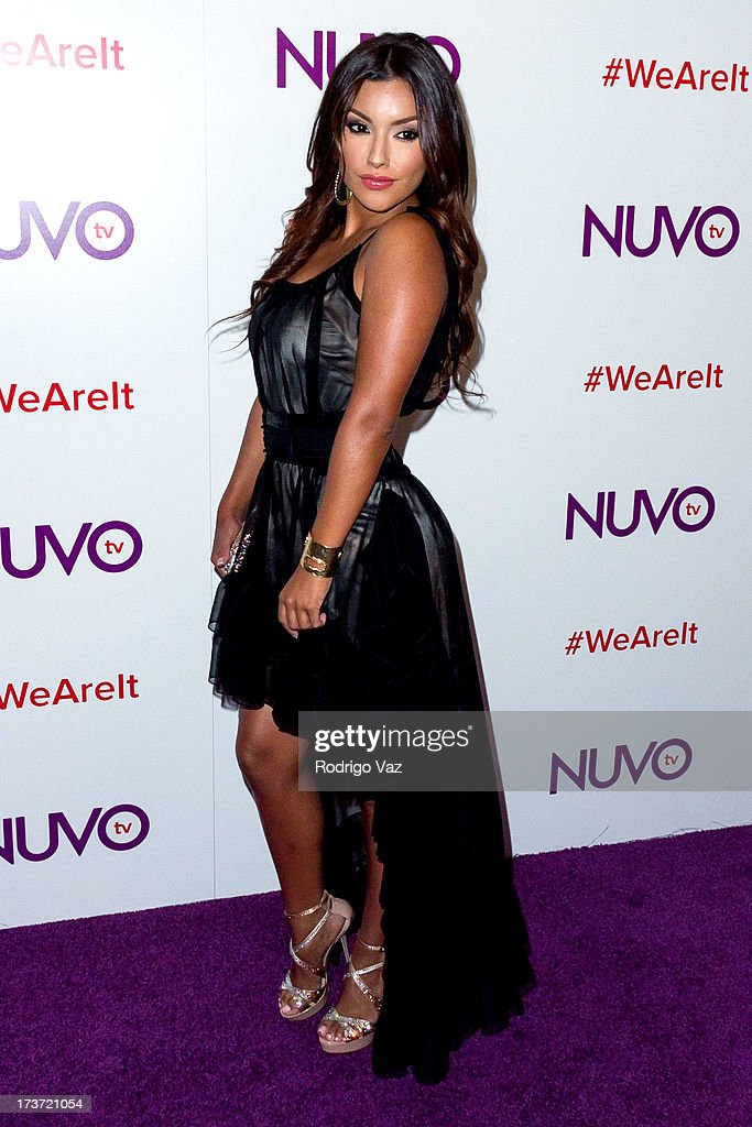Model Zuleyka Silver attends the NUVOtv Network Launch Party at The London West Hollywood on July 16, 2013 in West Hollywood, California.