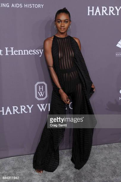 Model Zuri Tibby attends the amfAR New York Gala 2017 sponsored by FIJI Water at Cipriani Wall Street on February 8 2017 in New York City