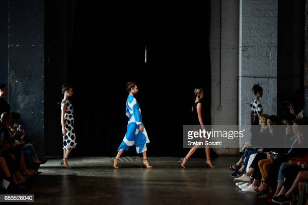 Modela walk the runway during the Gary Bigeni show at MercedesBenz Fashion Week Resort 18 Collections at Elston Room on May 16 2017 in Sydney...