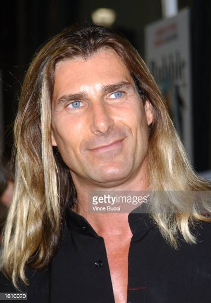 Modelactor Fabio attends the premiere of the film 'Bubble Boy' August 23 2001 in Hollywood CA