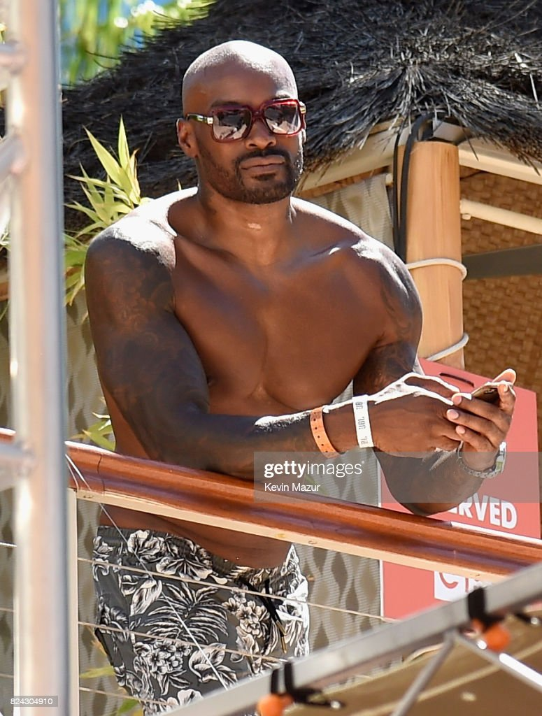 Model/actor Tyson Beckford makes a splash at JBL Poolside, one of the many events a part of JBL Fest, an exclusive, three-day music experience hosted by JBL at the Hard Rock Hotel & Casino on July 28, 2017 in Las Vegas, Nevada.