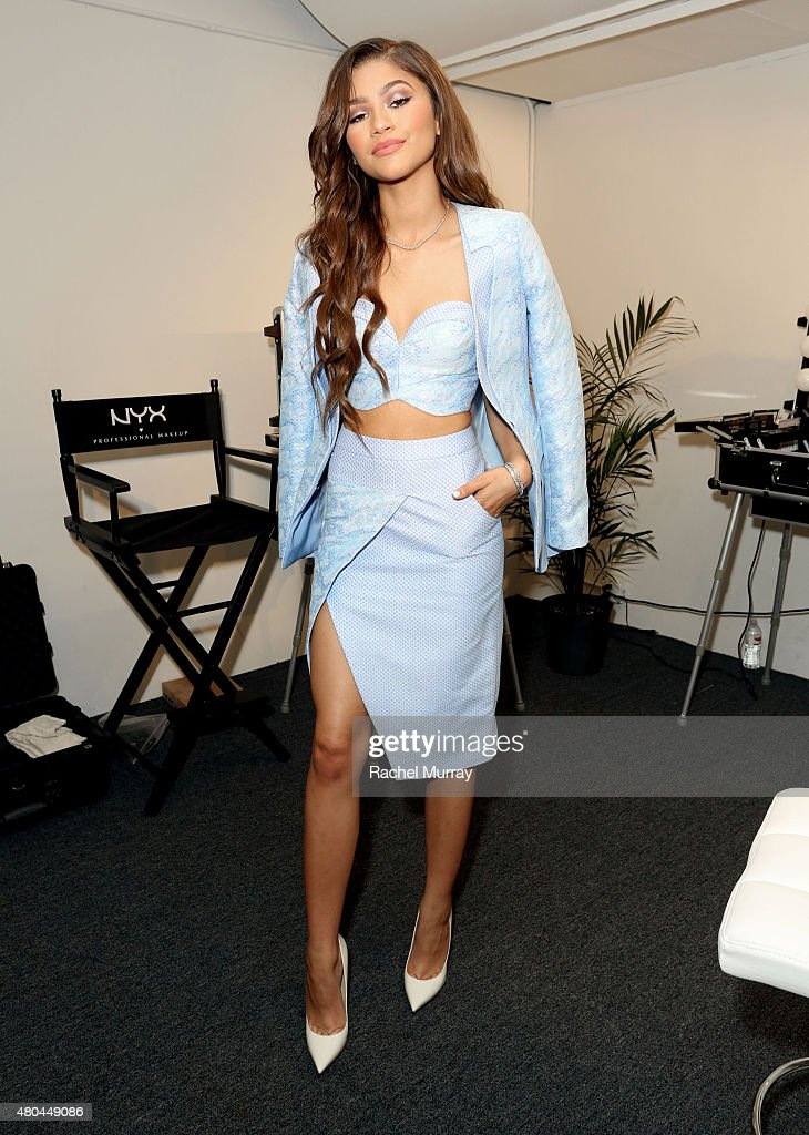 Model/Actres Zendaya attends the NYX Cosmetics VIP lounge during BeautyCon LA! at The Reef on July 11, 2015 in Los Angeles, California.