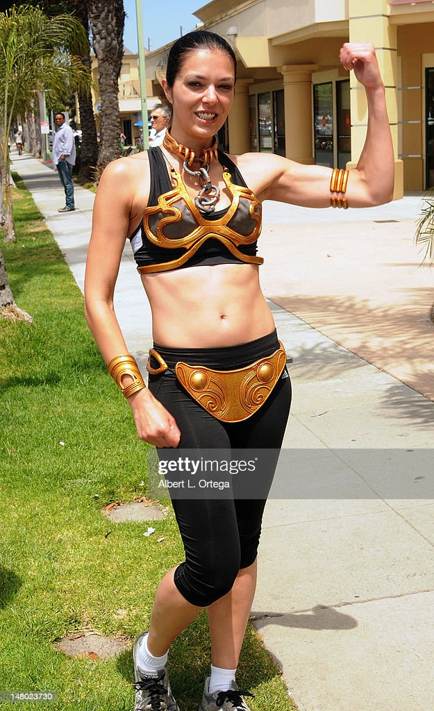 Model/actress Adianne Curry participates in The Inaugural 'Course Of The Force' Olympic Relay Run with lightsabers to Benefit The Make-A-Wish Foundation hosted by LucasFilm, Nerdist Industries and Octagon held at The Santa Monica Pier on July 7, 2012 in Santa Monica, California.