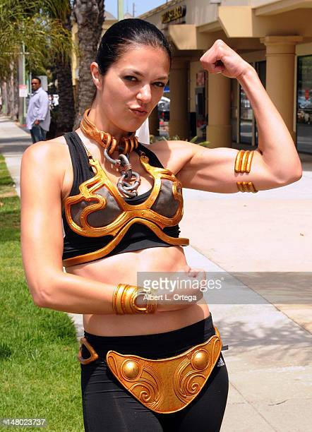Model/actress Adianne Curry participates in The Inaugural 'Course Of The Force' Olympic Relay Run with lightsabers to Benefit The MakeAWish...