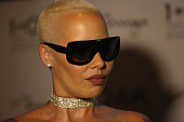 Model/actress Amber Rose speaks to an interviewer at 1 OAK Nightclub at the Mirage Hotel Casino on July 17 2016 in Las Vegas Nevada