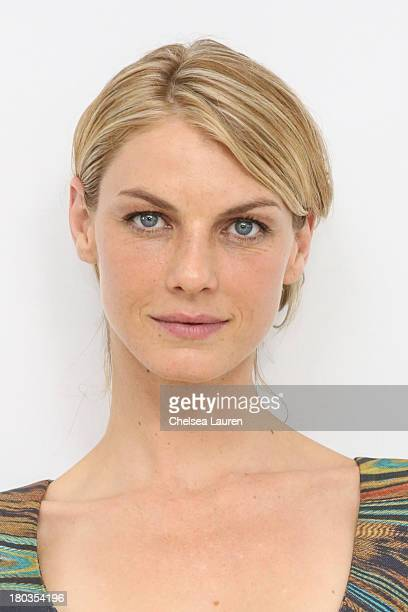 Model/actress Angela Lindvall attends the Philosophy by Natalie Ratabesi fashion show during MercedesBenz Fashion Week Spring 2014 at Roseland...