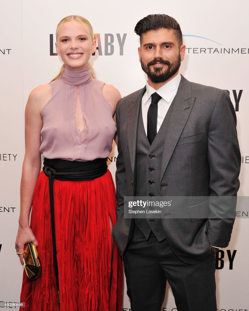 Model/actress Anne V. and writer/director Andrew Levitas attend the Arc Entertainment & The Cinema Society screening of 'Lullaby' at Museum of Modern Art on June 11, 2014 in New York City.