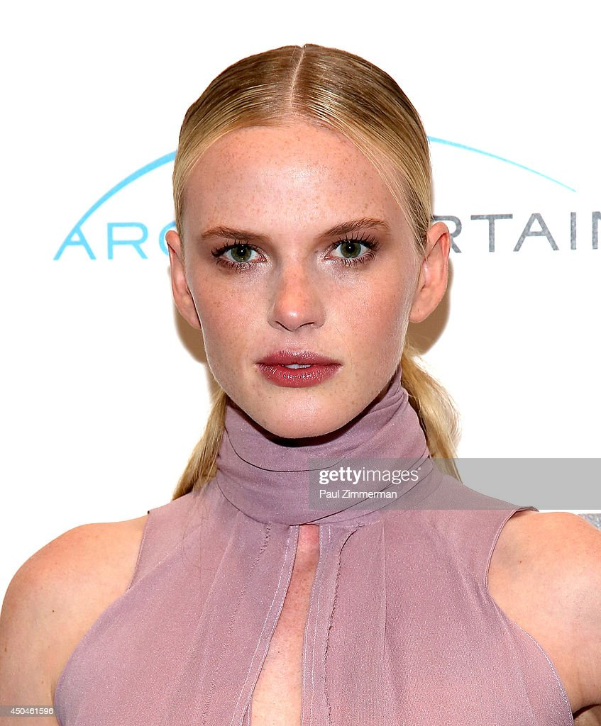 Model/actress Anne V. attends ARC Entertainment with The Cinema Society screening of Lullaby at Museum of Modern Art on June 11, 2014 in New York City.