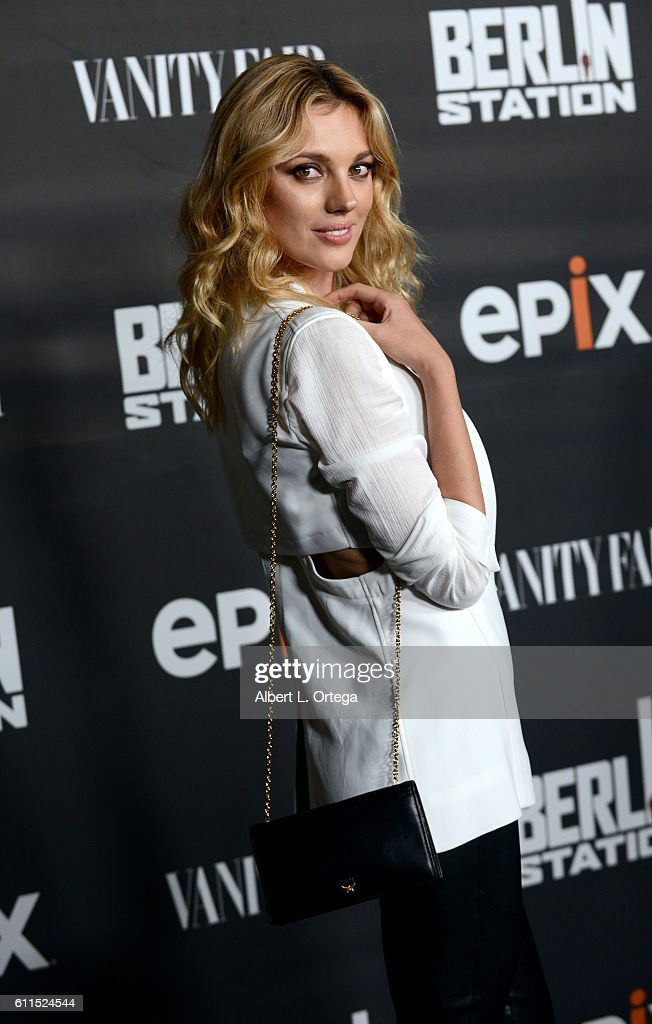 Model/actress Bar Paly arrives for the Premiere Of EPIX's 'Berlin Station' held at Milk Studios on September 29, 2016 in Hollywood, California.
