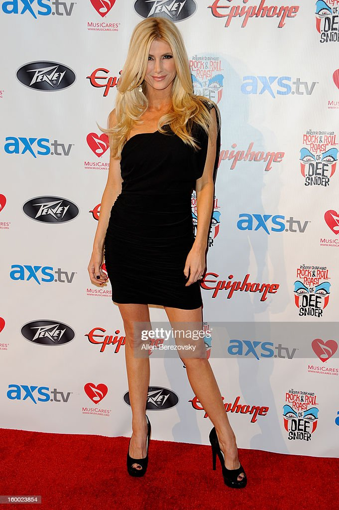Model/actress Brande Roderick arrives at the Revolver/Guitar World Rock & Roll roast of Dee Snider at City National Grove of Anaheim on January 24, 2013 in Anaheim, California.