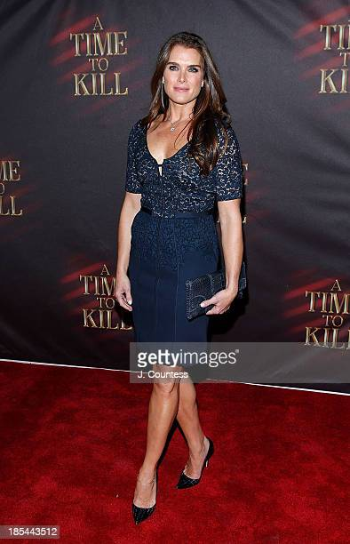 Model/actress Brooke Shields attends the Broadway opening night of 'A Time To Kill' at The Golden Theatre on October 20 2013 in New York City