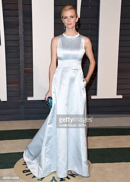 Model/actress Brooklyn Decker arrives at the 2015 Vanity Fair Oscar Party Hosted By Graydon Carter at Wallis Annenberg Center for the Performing Arts...