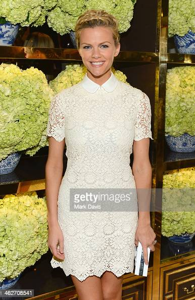 Model/actress Brooklyn Decker attends the Tory Burch Rodeo Drive Flagship Opening at Tory Burch on January 14 2014 in Beverly Hills California