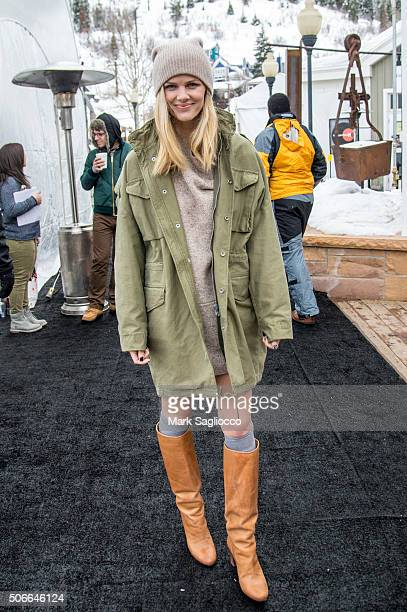 Model/Actress Brooklyn Decker is seen around town at the Sundance Film Festival on January 24 2016 in Park City Utah