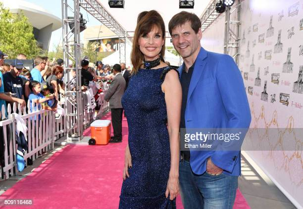 Model/actress Carol Alt and Alexei Yashin attend the 2017 NHL Awards at TMobile Arena on June 21 2017 in Las Vegas Nevada