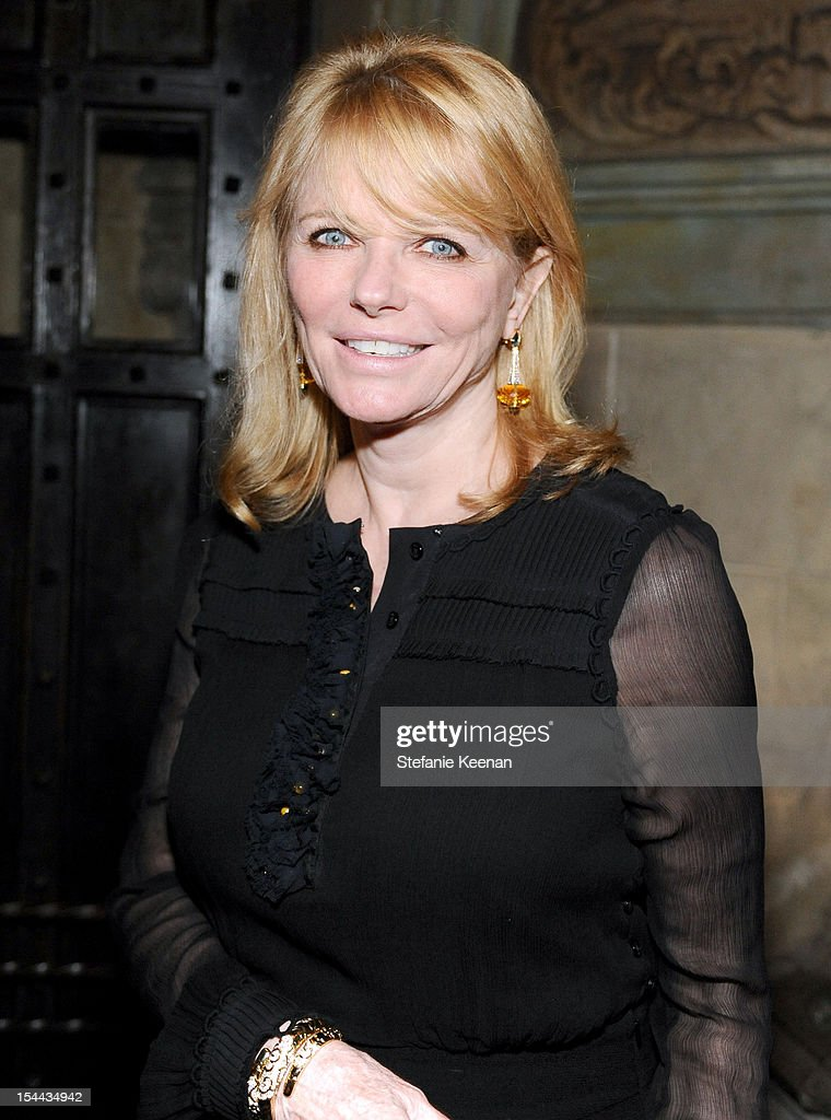 Model/actress <a gi-track='captionPersonalityLinkClicked' href=/galleries/search?phrase=Cheryl+Tiegs&family=editorial&specificpeople=211403 ng-click='$event.stopPropagation()'>Cheryl Tiegs</a> attends Cameron Silver's 'Decades' A Century Of Fashion' book party hosted by Marina B at Chateau Marmont's Bar Marmont on October 19, 2012 in Hollywood, California.