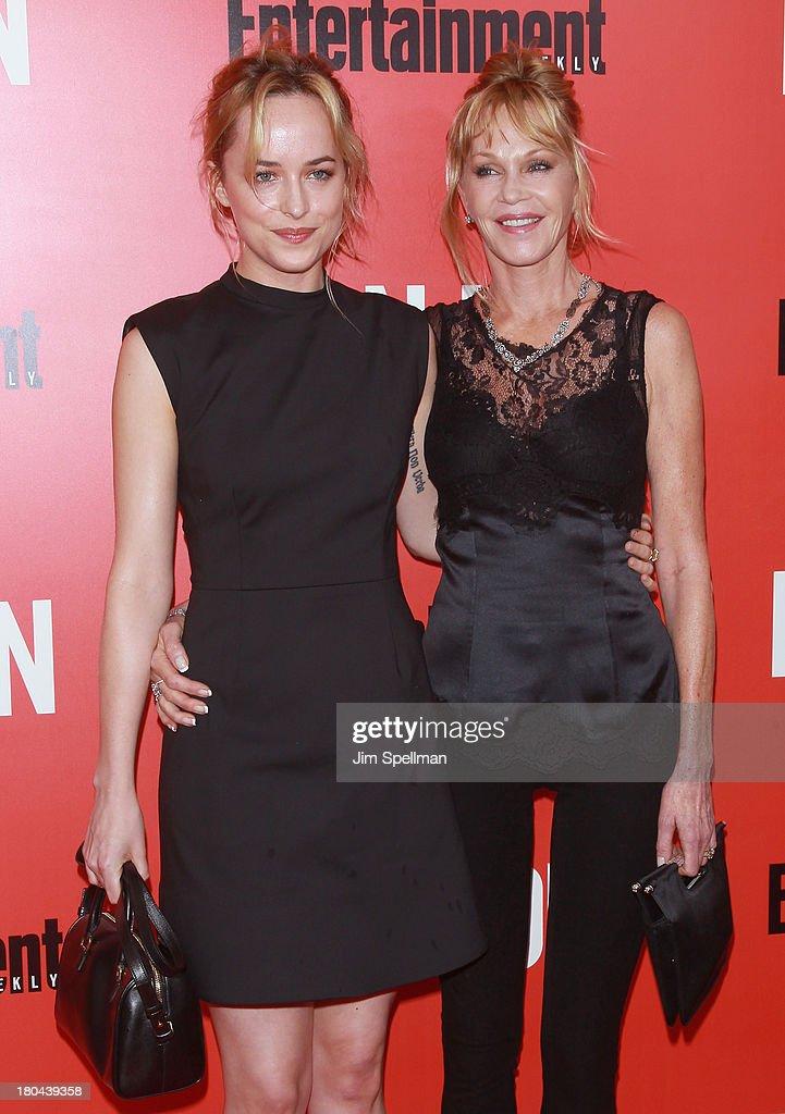 Model/actress Dakota Johnson and actress Melanie Griffith attend 'Don Jon' New York Premiere at SVA Theater on September 12 2013 in New York City