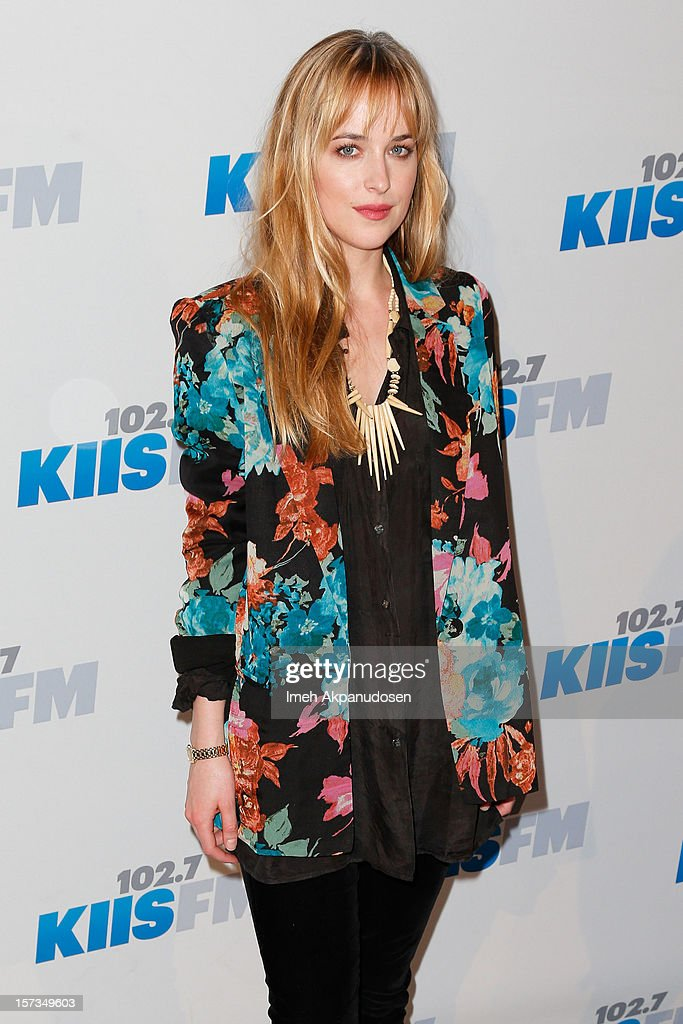 Model/actress Dakota Johnson attends KIIS FM's 2012 Jingle Ball at Nokia Theatre L.A. Live on December 1, 2012 in Los Angeles, California.