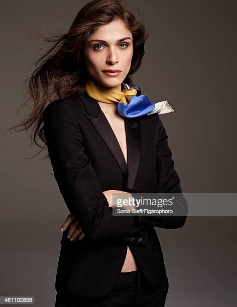 Model/actress Elisa Sednaoui is photographed for Madame Figaro on April 13 2015 in Paris France Suit scarf Makeup by Dior PUBLISHED IMAGE CREDIT MUST...
