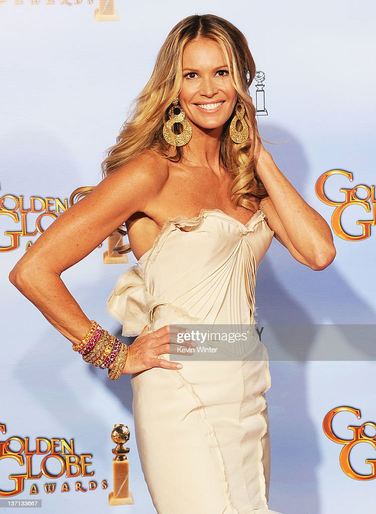 Model/actress Elle Macpherson poses in the press room at the 69th Annual Golden Globe Awards held at the Beverly Hilton Hotel on January 15, 2012 in Beverly Hills, California.