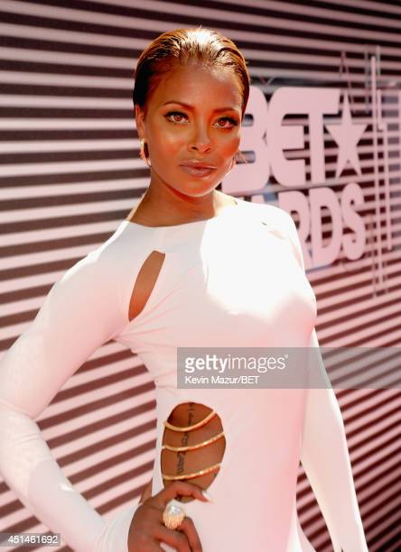 Model/actress Eva Marcille attends the BET AWARDS '14 at Nokia Theatre LA LIVE on June 29 2014 in Los Angeles California
