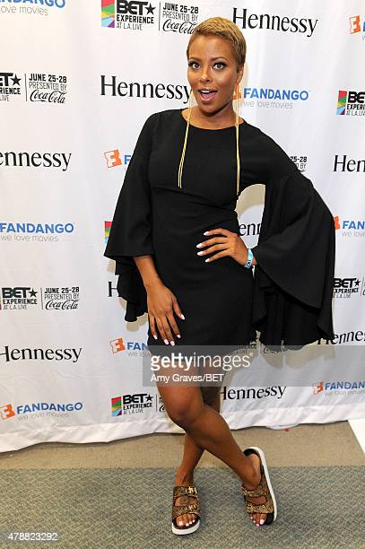 Model/actress Eva Marcille attends the BETX gifting suite during the 2015 BET Experience at the Los Angeles Convention Center on June 27 2015 in Los...