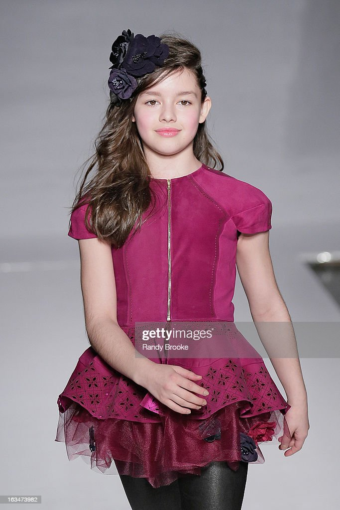 Model/Actress Fatima Ptacek attends the Bonnie Young Fall/Winter 2013 Fashion Show at Industria Superstudio on March 10, 2013 in New York City.