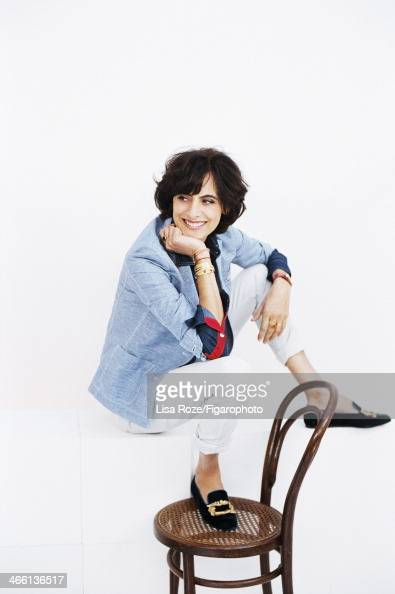 108662003 Model/actress Ines de la Fressange is photographed for Madame Figaro on December 1 2013 in Paris France Ines designed a capsule collection...