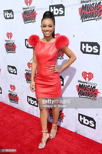 Model/actress Karrueche Tran attends the iHeartRadio Music Awards at The Forum on April 3 2016 in Inglewood California