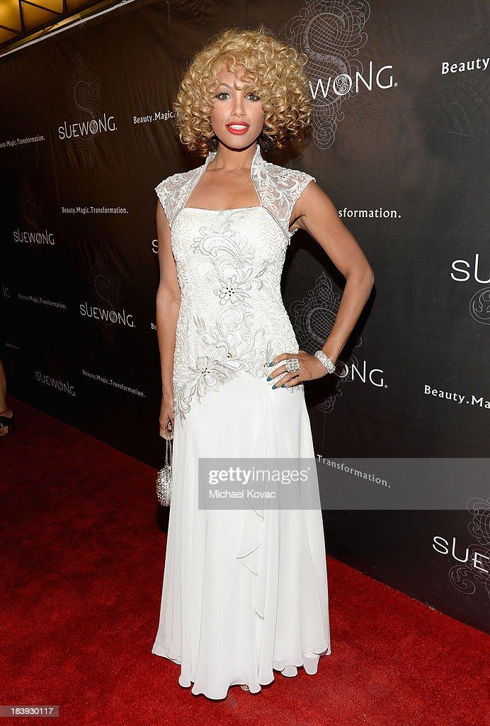 Model/actress K.D. Aubert attends Sue Wong 'Jazz Babies' Spring 2014 Runway Show on October 9, 2013 in Los Angeles, California.
