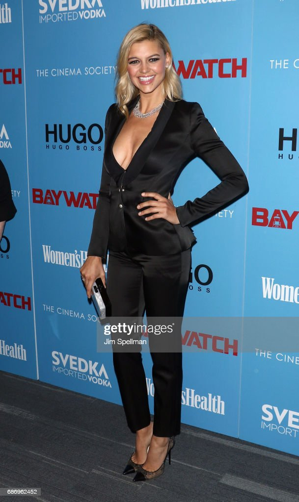 Model/actress Kelly Rohrbach attends the screening of 'Baywatch' hosted by The Cinema Society at Landmark Sunshine Cinema on May 22, 2017 in New York City.