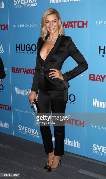 Model/actress Kelly Rohrbach attends the screening of 'Baywatch' hosted by The Cinema Society at Landmark Sunshine Cinema on May 22 2017 in New York...