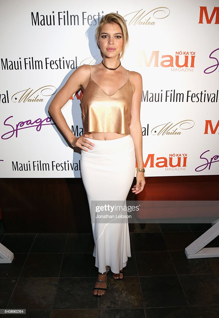 Model/actress Kelly Rohrbach recipient of the 2016 Maui Film Festival Rising Star Award in Wailea attends Maui Film Festival's Soiree at Spago...