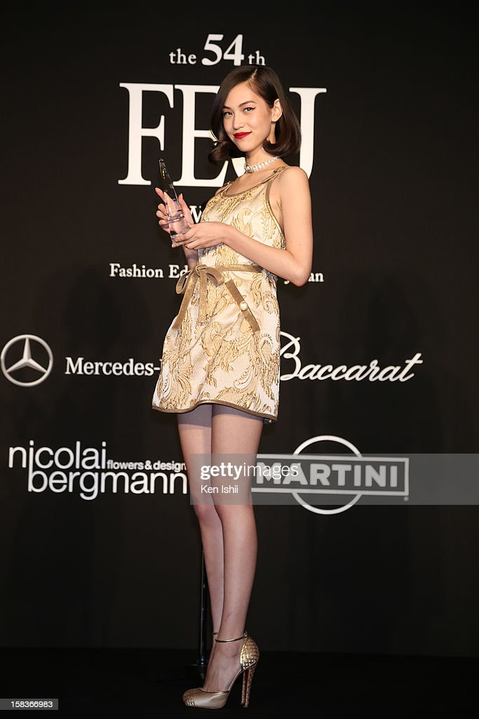Model/Actress Kiko Mizuhara poses for photograpy during the 54th Fashion Editors Club of Japan Awards at Mercedes-Benz Connection on December 14, 2012 in Tokyo, Japan.