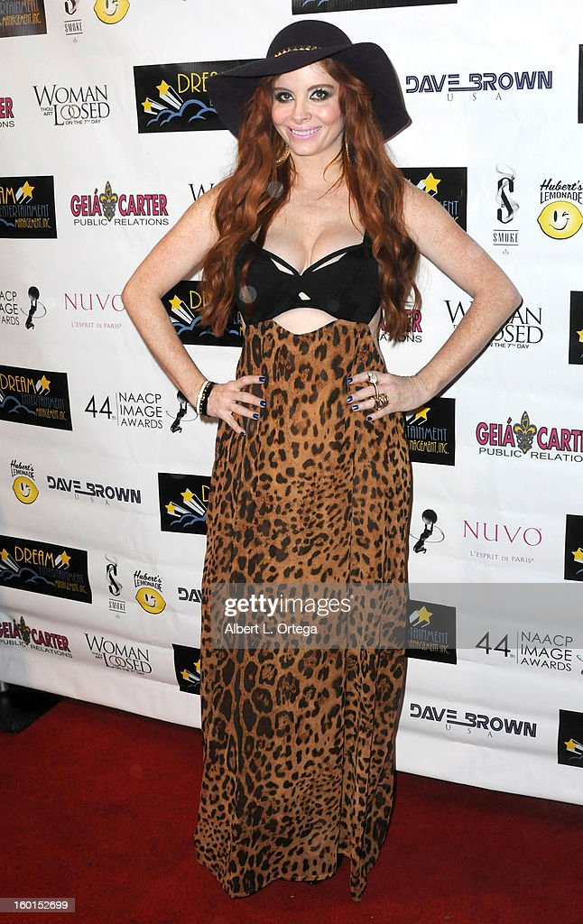 Model/actress Leslie A. Hughes arrives for The NAACP Image Awards Nomination Party featuring 'Woman Thou Art Loosed On The 7th Day' for Best Independent Motion Picture held at Smoke on January 26, 2013 in West Hollywood, California.
