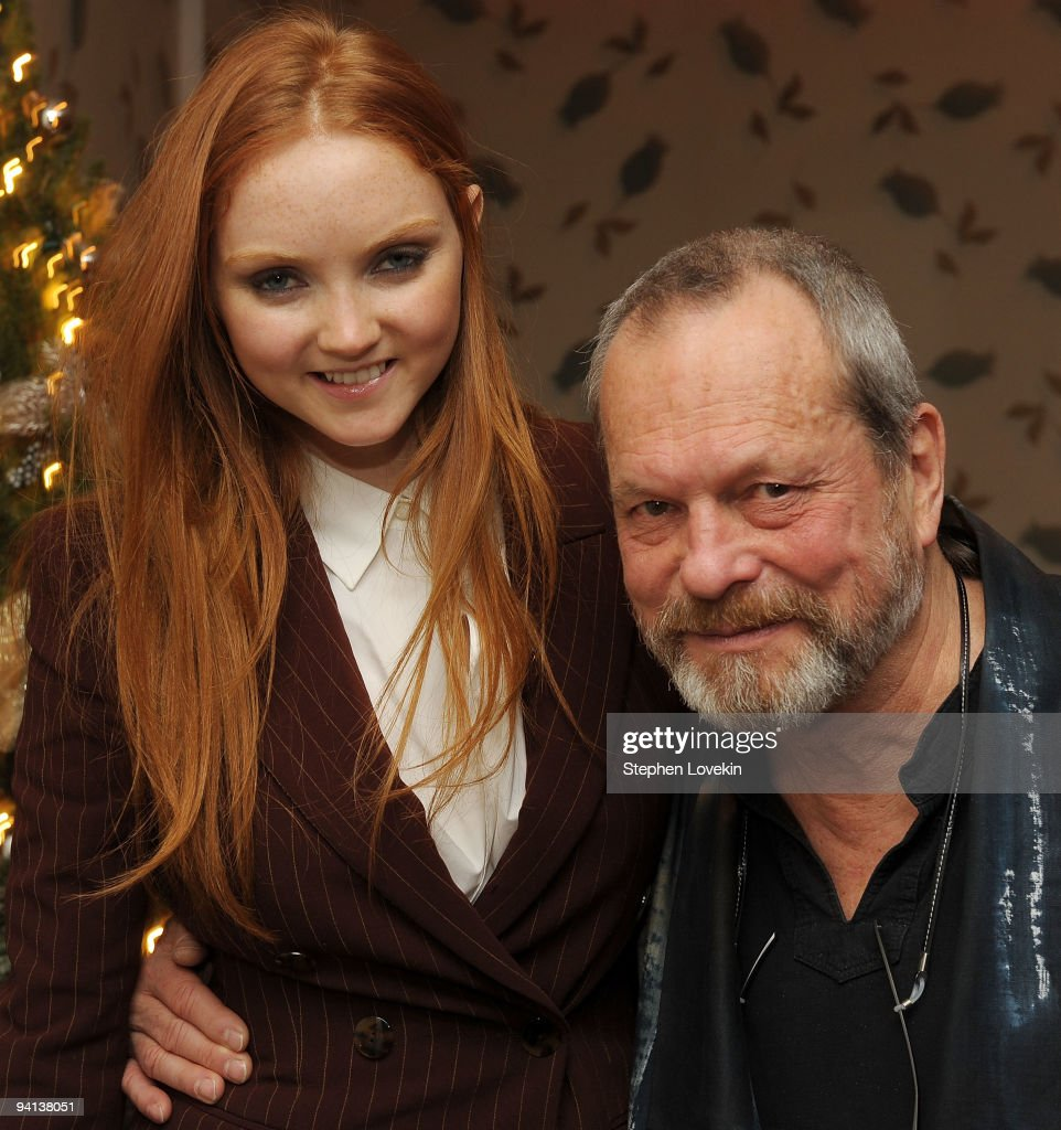 Model/actress Lily Cole and director Terry Gilliam attend the premiere of 'The Imaginarium of Doctor Parnassus' at the Crosby Street Hotel on...
