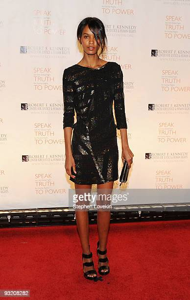 Model/actress Liya Kebede attends the RFK Center Ripple of Hope Awards dinner at Pier Sixty at Chelsea Piers on November 18 2009 in New York City