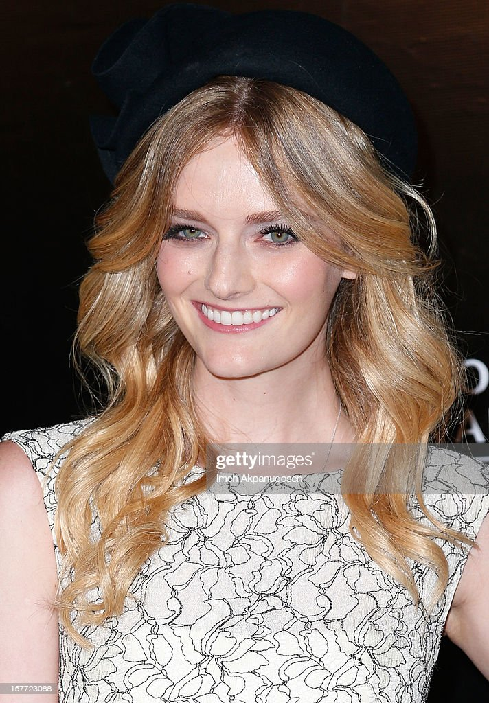 Model/actress Lydia Hearst attends the Rodeo Drive Walk Of Style honoring BVLGARI and Mr. Nicola Bulgari held at Bulgari on December 5, 2012 in Beverly Hills, California.