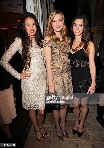 Model/actress Margaret Qualley and actresses Alexia Fast and Rainey Qualley attend the Dior Beauty PreGolden Globe Dinner at Chateau Marmont on...