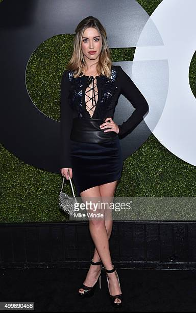 Model/actress Melissa Bolona attends the GQ 20th Anniversary Men Of The Year Party at Chateau Marmont on December 3 2015 in Los Angeles California
