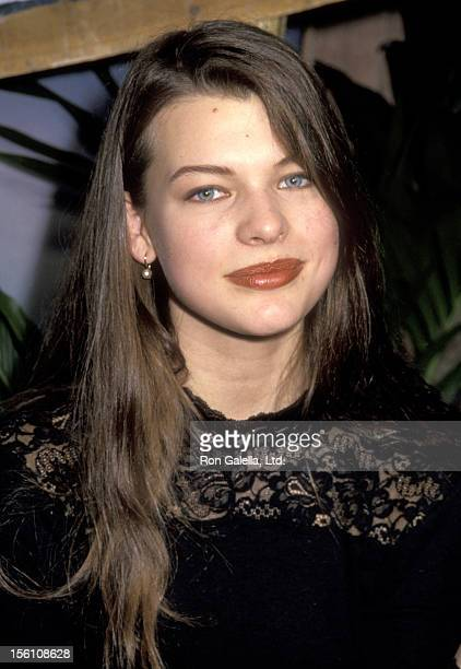 Model/Actress Milla Jovovich attends the 1991 NATO/ShoWest Convention on February 7 1991 at Bally's Hotel and Casino in Las Vegas Nevada