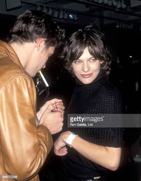 Model/Actress Milla Jovovich attends the 'Donna Karan Fashion Show' on September 18 1999 at Madison Avenue Outside the Plaza Hotel in New York City...